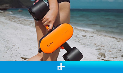 Geneinno S2 is an underwater scooter that propels you through the waves